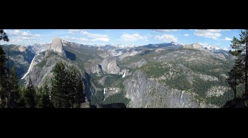 Half Dome, Nevada Falls, and Vernal Falls. Yosemite RIGHT image