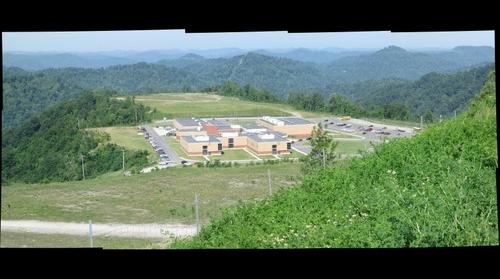 Mingo Central Comprehensive High School from above
