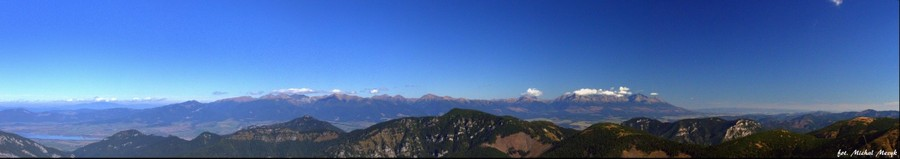 Panorama of Tatry mountain.