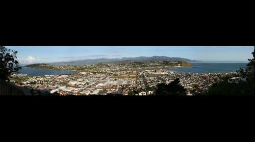 Wellington New Zealand - View of  'Lyall Bay' and Airport