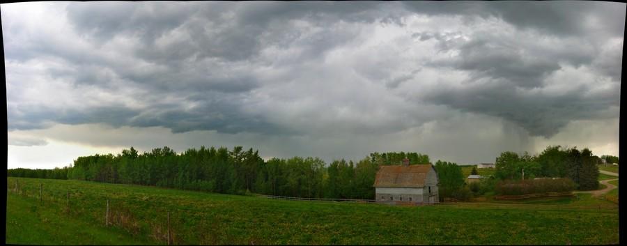 Stormy skies near Mewassin, Alberta