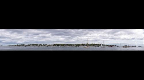 Marblehead Harbor Under Storm Clouds
