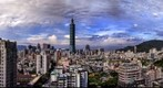 Panoramic view of Taipei, Taiwan