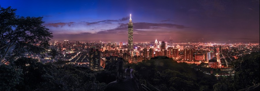 Panoramic view of Taipei