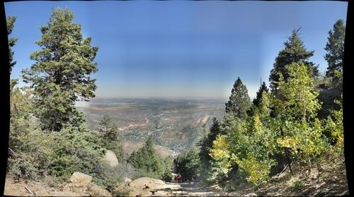 Top of the Manitou Incline at Colorado Springs