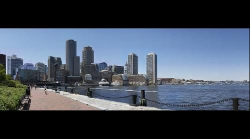 Boston Skyline From Joe Moakley Courthouse