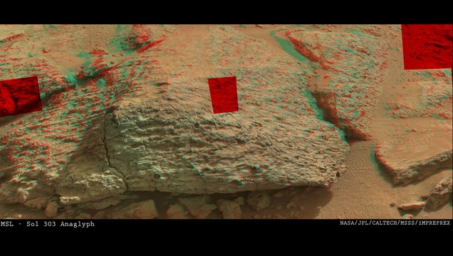MSL - Sol 303 (Anaglyph)