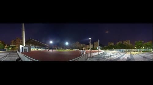 馬鞍山運動場 Ma On Shan Sports Ground / 香港夜間體育全景 Hong Kong Sports at Night Panorama / SML.20130620.6D.16518-SML.20130620.6D.16527-Pano.i10.360x96