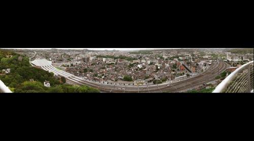 Panorama de Liège depuis le Mémorial Interallié de Cointe