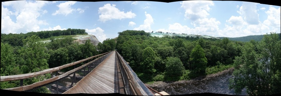Pinkerton Horn, along the Great Allegheny Passage, after the CSX daylighting