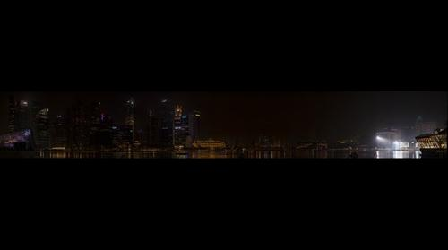 Singapore City Skyline @ Night