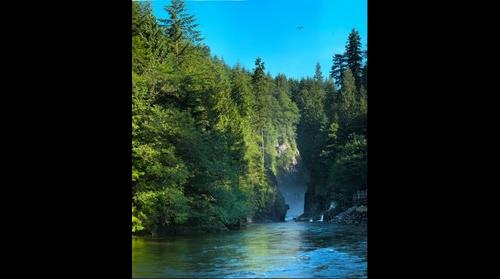 Title: Capilano River Canyon - HDR image - Summer 2013