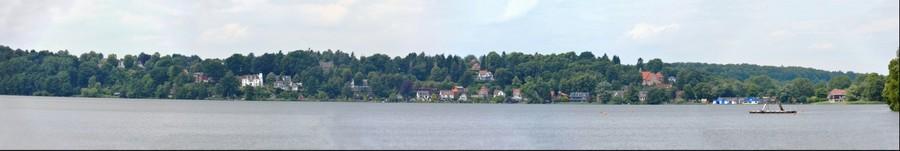 Sommer-Panorama von Ratzeburgs Stadtteil St. Georgsberg