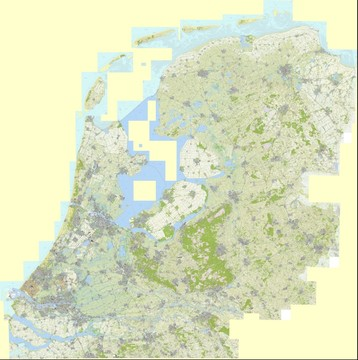 Topographic map of Netherlands