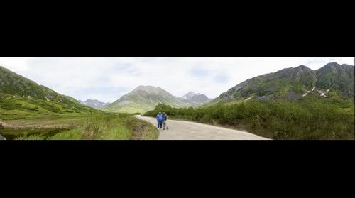 Alaskan valley Panoroama
