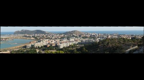 Cagliari, panorama da viale Europa