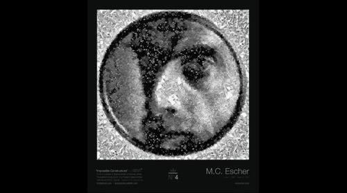 Digital Portrait #4 - M.C. Escher