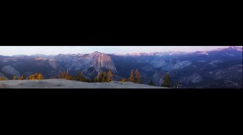 Yosemite Valley and Half Dome at Sunset from Sentinel Rock