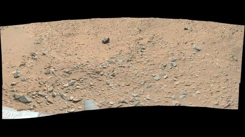 Curiosity sol 0327 false color panorama