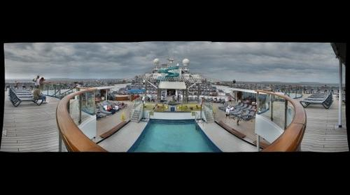 Carnival Conquest Lido Deck