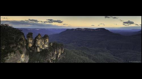 The Three Sisters at Twilight- Pano