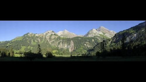 Mountains at Lauenensee, near Gstaad