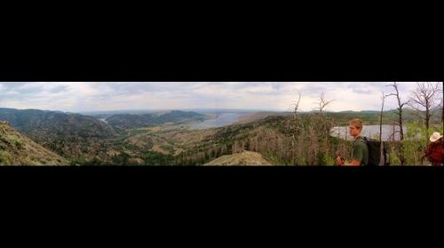 View of Dead Soda Lake, Boulder Lake, and Blueberry Lake in the Wind River Mountains