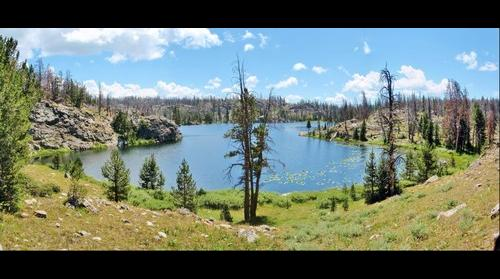 Cross Lake in the Wind River Mountains
