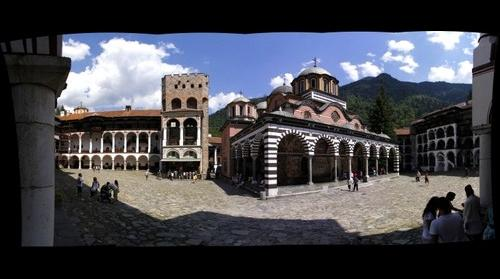 Rila Monastery lost in the mountains