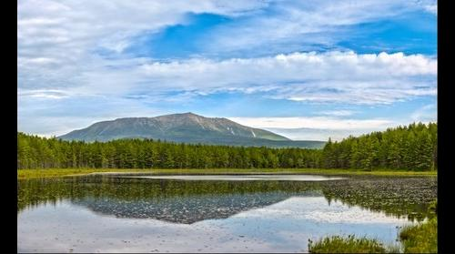 Mt. Katahdin reflecting in Sunday Pond