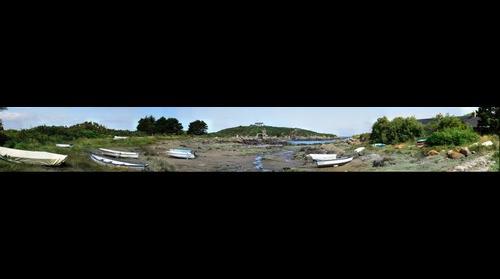 Chausey vue de l'anse près du Pont