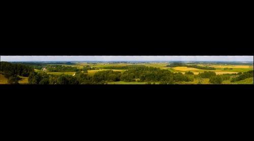 Panorama nuo Šatrijos kalno / Panorama from Satrija hill