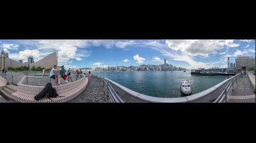 香港尖沙咀海濱長廊維多利亞港全景 Victoria Harbour Panorama from Tsim Sha Tsui Promenade, Hong Kong