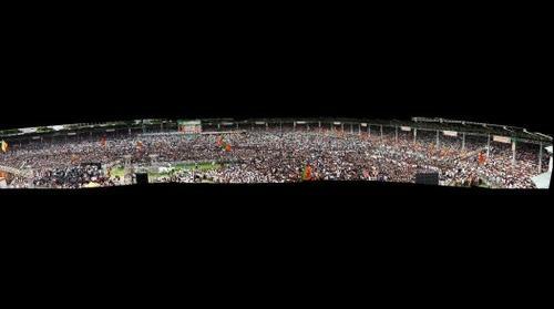 Narendra Modi  Meeting  Nava Bharat Yuva Bheri at Lal Bahadur Shastri stadium, Hyderabad on 11th August