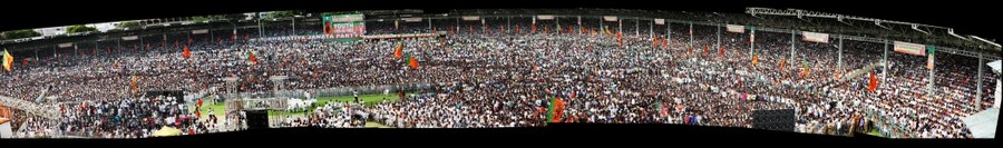 Narendra Modi  Meeting  Nava Bharat Yuva Bheri at Lal Bahadur Shastri stadium, Hyderabad on 11th August