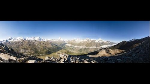 View from Unterrothorn in Zermatt