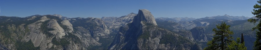 Yosemite - Half Dome seen from Glacier Point