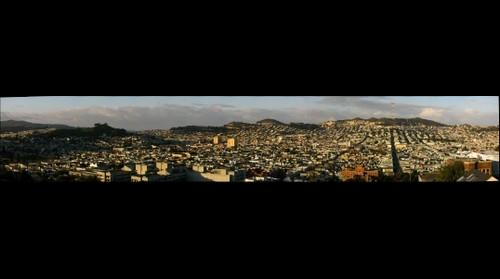 View Over San Francisco's Mission District: Bernal Hill to Corona Heights