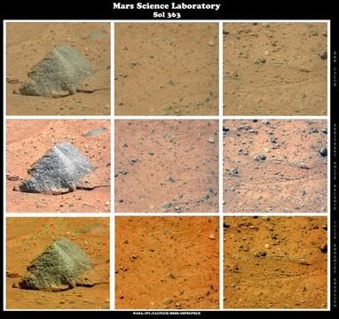 MSL - Sol 363 - Mars Rocks
