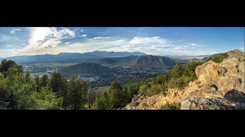 Jackson Hole Wyoming from Snow King Mountain