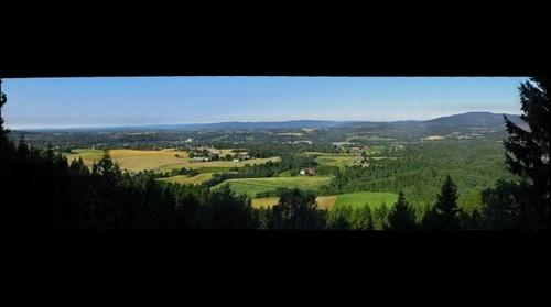 View of the central part of Eidsvoll from the Wergeland lookout, aug 20, 2013