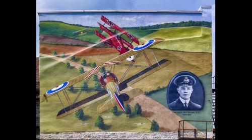 Carleton Place mural, Captain A. Roy Brown