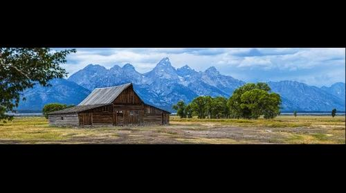 Thomas Alma Moulton Barn with the Grand Teton - Jackson Hole - Wyoming
