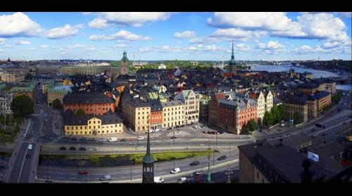 Utsikt över Gamla Stan Stockholm