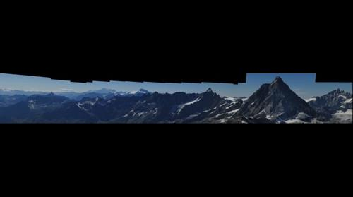 Panorama from Kleiner Matterhorn