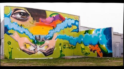 DAZE mural