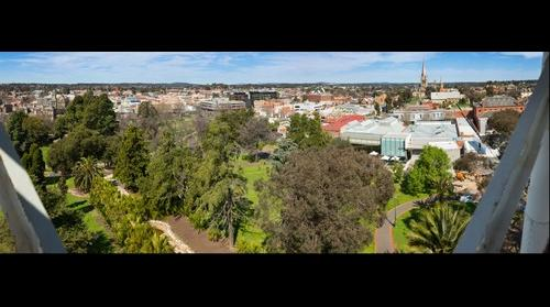 Panorama of Bendigo City from Rosalind Park Poppet Head