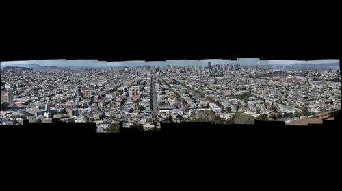 San Francisco Downtown from Bernal Heights