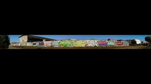 San Francisco @ Toxic Beach  Graffiti was buffed by the city... taken just before painting