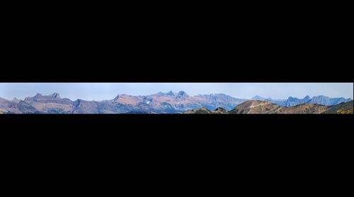 Lewis Range from Gyrfalcon Lake, Glacier National Park, MT